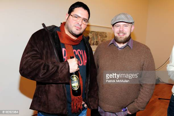 Omar Chacon and Haden Nicholl attend NYFA 2010 ANNUAL BENEFIT at James Cohan Gallery on February 25 2010 in New York City