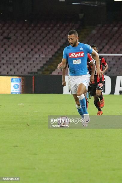 Omar El Kaddouri during soccer match between SSC Napoli and Nizza at San Paolo Stadium in Napoli Final result Napoli vs Nizza 30