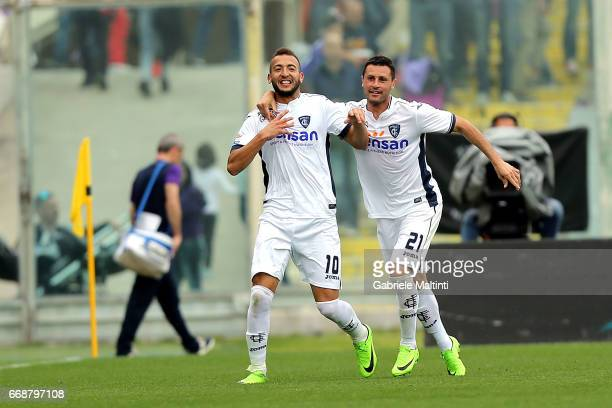 Omar El Kaddouri of Empoli FC celebrates after scoring a goal during the Serie A match between ACF Fiorentina and Empoli FC at Stadio Artemio Franchi...