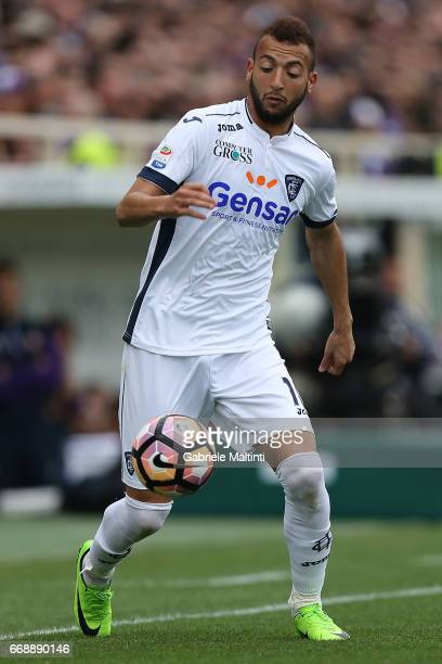 Omar El Kaddouri of Empoli FC in action during the Serie A match between ACF Fiorentina and Empoli FC at Stadio Artemio Franchi on April 15 2017 in...