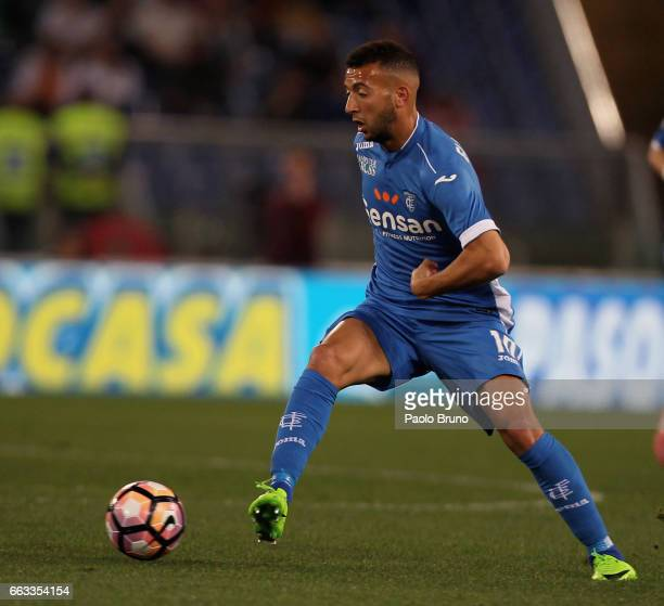 Omar El Kaddouri of Empoli FC in action during the Serie A match between AS Roma and Empoli FC at Stadio Olimpico on April 1 2017 in Rome Italy