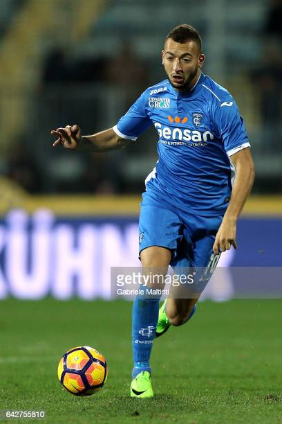 Omar El Kaddouri of Empoli FC in action during the Serie A match between Empoli FC and SS Lazio at Stadio Carlo Castellani on February 18 2017 in...