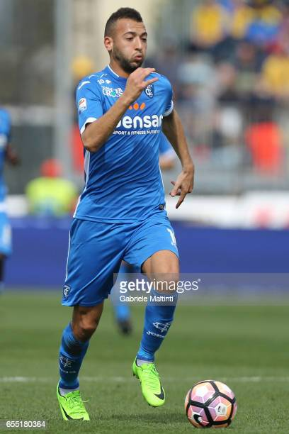 Omar El Kaddouri of Empoli FC in action during the Serie A match between Empoli FC and SSC Napoli at Stadio Carlo Castellani on March 19 2017 in...