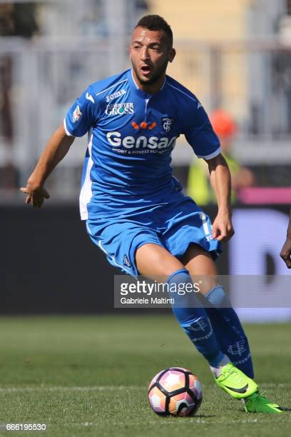 Omar EL Kaddouri of Empoli FC in action during the Serie A match between Empoli FC and Pescara Calcio at Stadio Carlo Castellani on April 8 2017 in...