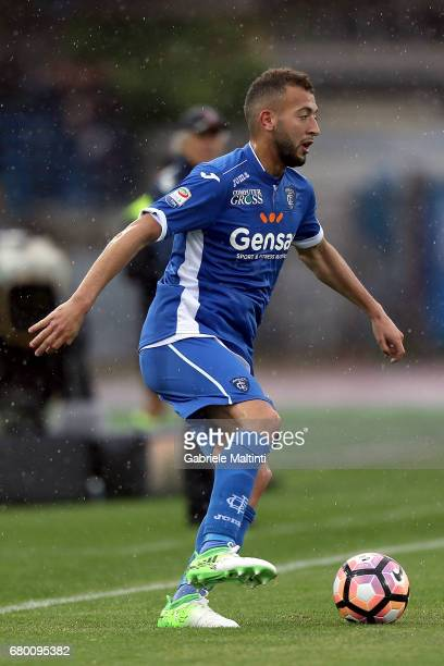 Omar El Kaddouri of Empoli FC in action during the Serie A match between Empoli FC and Bologna FC at Stadio Carlo Castellani on May 7 2017 in Empoli...