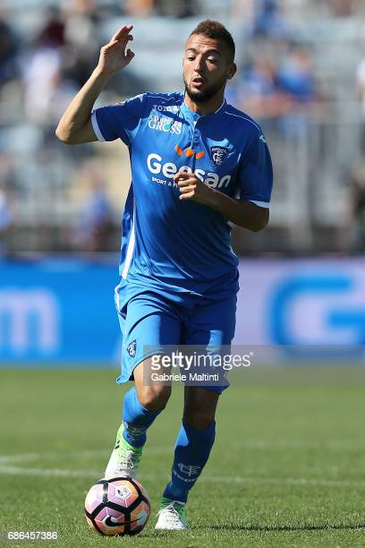 Omar El Kaddouri of Empoli FC in action during the Serie A match between Empoli FC and Atalanta BC at Stadio Carlo Castellani on May 21 2017 in...