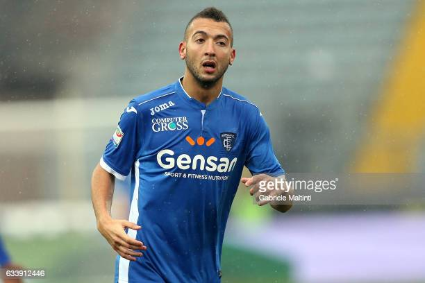 Omar El Kaddouri of Empoli FC reacts during the Serie A match between Empoli FC and FC Torino at Stadio Carlo Castellani on February 5 2017 in Empoli...