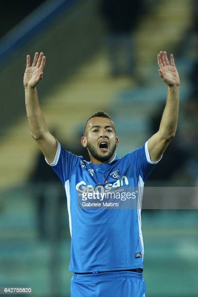 Omar El Kaddouri of Empoli FC reacts during the Serie A match between Empoli FC and SS Lazio at Stadio Carlo Castellani on February 18 2017 in Empoli...