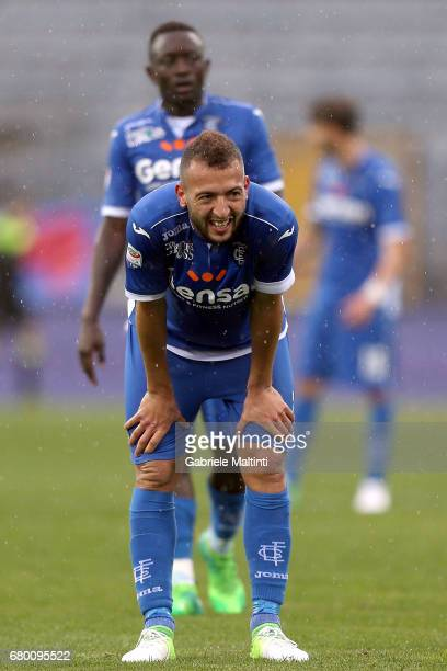 Omar El Kaddouri of Empoli FC reacts during the Serie A match between Empoli FC and Bologna FC at Stadio Carlo Castellani on May 7 2017 in Empoli...
