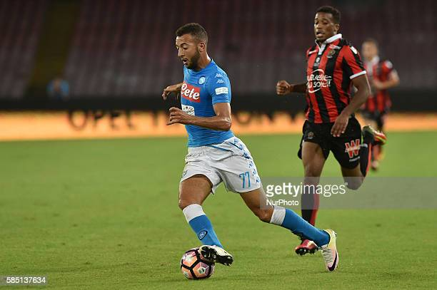Omar El Kaddouri of SSC Napoli during preseason friendly match between SSC Napoli and OGC Nice at San Paolo Stadium on August 1 2016 in Naples Italy