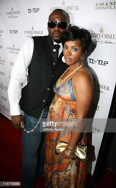 Omar Epps and His Wife Keisha during House of Courvoisier TI vs TIP Album Release Party at Republic in West Hollywood California United States