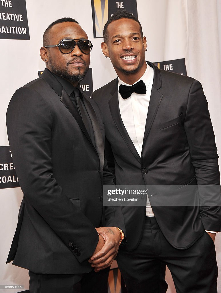 Omar Epps (L) and Marlon Wayans attend The Creative Coalition's 2013 Inaugural Ball at the Harman Center for the Arts on January 21, 2013 in Washington, United States.