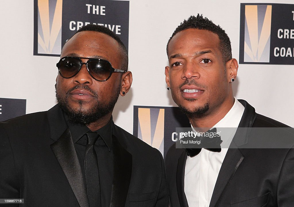 Omar Epps (L) and Marlon Wayans attend The Creative Coalition's 2013 Inaugural Ball on January 21, 2013 in Washington, United States.