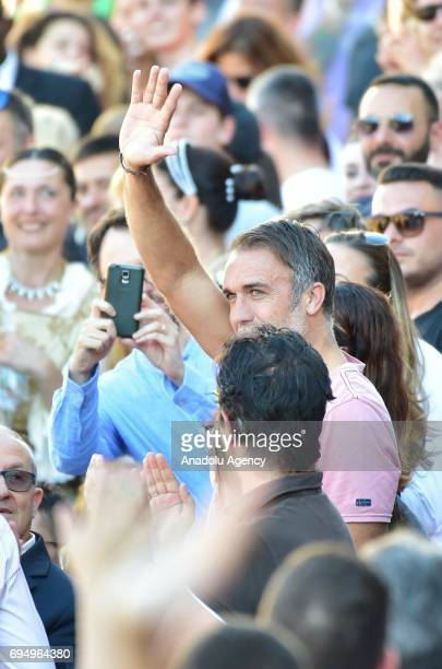 Omar Gabriel Batistuta attends the Calcio Storico Fiorentino match between Santa Croce and Saint Spirit during the Historic Florentine Football Event...