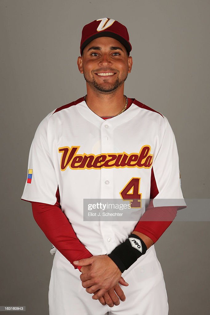 <a gi-track='captionPersonalityLinkClicked' href=/galleries/search?phrase=Omar+Infante&family=editorial&specificpeople=203255 ng-click='$event.stopPropagation()'>Omar Infante</a> #4 of Team Venezuela poses for a headshot for the 2013 World Baseball Classic at Roger Dean Stadium on Monday, March 4, 2013 in Jupiter, Florida.