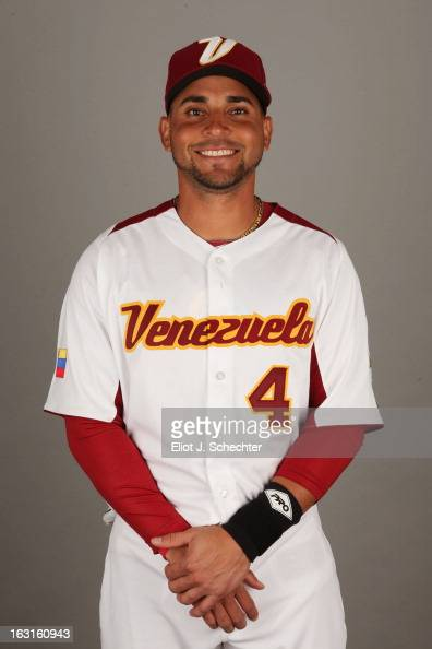 Omar Infante of Team Venezuela poses for a headshot for the 2013 World Baseball Classic at Roger Dean Stadium on Monday March 4 2013 in Jupiter...