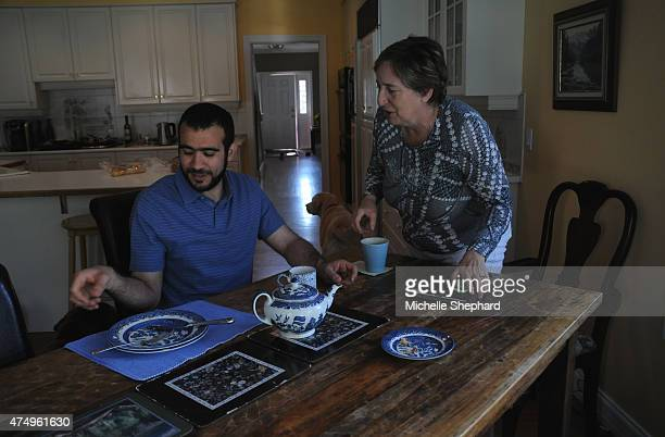 Omar Khadr left on May 9 talking with Patricia Edney who along with her husband Dennis has offered the 28yearold former Guantanamo Bay detainee a...