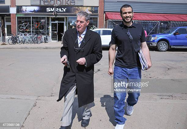 Omar Khadr on his first day of freedom after nearly 13 years in prison with longtime Canadian lawyer Dennis Edney