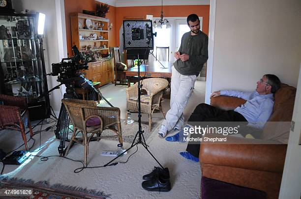 Omar Khadr talks with Dennis Edney his longtime lawyer on a break from his first interview on May 8 2015 A day earlier the 28 year old was released...