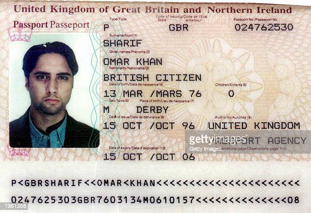 Omar Khan Sharif's British passport is seen in this image distributed by Israel's police and Shin Bet secret service April 30 in Tel Aviv The...