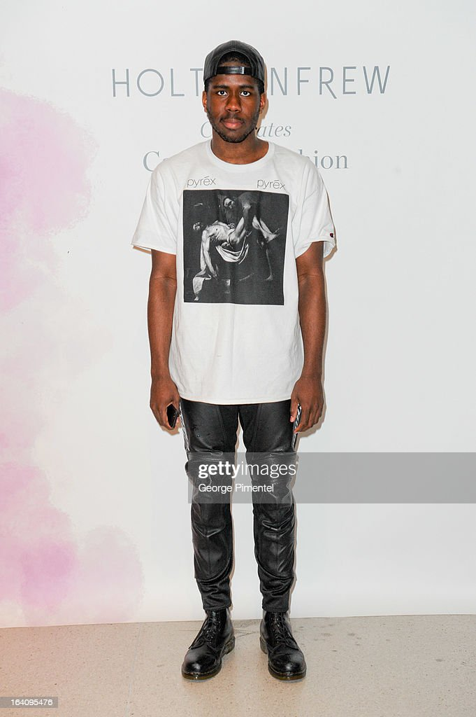 Omar Leslie attends the Holt Renfrew opening night party on March 18, 2013 in Toronto, Canada.
