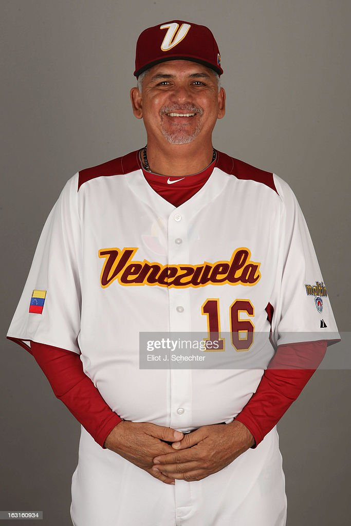 Omar Malave #16 of Team Venezuela poses for a headshot for the 2013 World Baseball Classic at Roger Dean Stadium on Monday, March 4, 2013 in Jupiter, Florida.