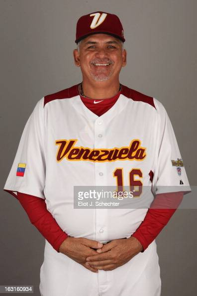 Omar Malave of Team Venezuela poses for a headshot for the 2013 World Baseball Classic at Roger Dean Stadium on Monday March 4 2013 in Jupiter Florida