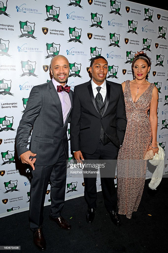 Omar Mcgee attends with family and friends at the Executive Preparatory Academy Of Finance's 'Reason To Believe' Inaugural Charity Fundraising Gala at Vibiana on February 20, 2013 in Los Angeles, California.