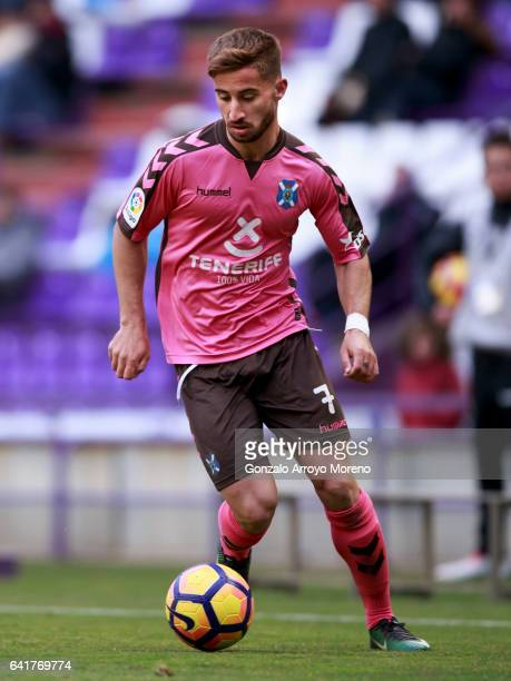 Omar Perdomo of Tenerife SAD controls the ball during the La Liga second league match between Real Valladolid CF and CD Tenerife at Estadio Jose...