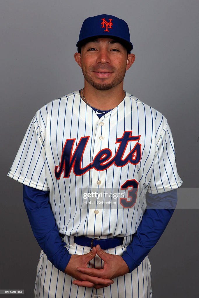 Omar Quintanilla #3 of the New York Mets poses during Photo Day on February 21, 2013 at Mets Stadium in Port St. Lucie, Florida.