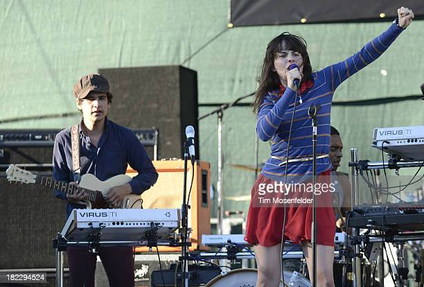 Omar RodriguezLopez and Teri Gender Bender of Bosnian Rainbows perform as part of C2SV Music Festival Day Three at St James Park on on September 28...