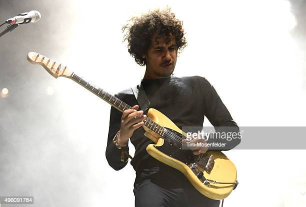 Omar RodriguezLopez of Antemasque performs during Fun Fun Fun Fest 2015 at Auditorium Shores on November 6 2015 in Austin Texas