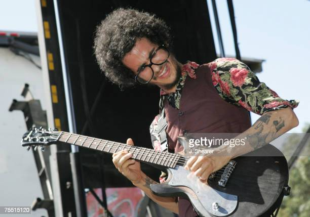 Omar RodriguezLopez of The Mars Volta at the Verizon Wireless Amphitheatre in Irvine California