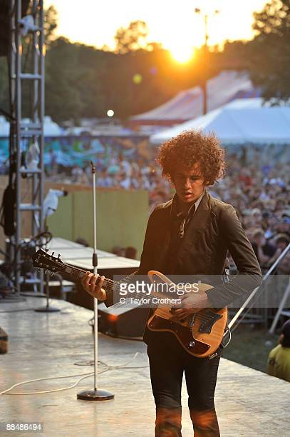 Omar RodriguezLopez of The Mars Volta performs on stage during Bonnaroo 2009 on June 13 2009 in Manchester Tennessee