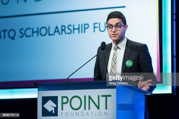 Omar Salman on stage at the Point Honors Los Angeles at The Beverly Hilton Hotel on October 7 2017 in Beverly Hills California