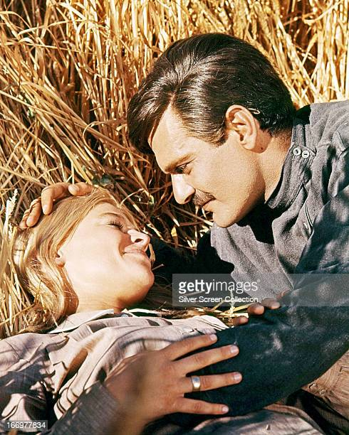 Omar Sharif as Yuri and Julie Christie as Lara in a publicity still for 'Doctor Zhivago' directed by David Lean 1965