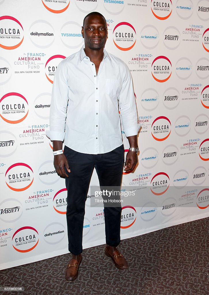 Omar Sy attends opening night of the 20th annual COLCOA French Film Festival at Directors Guild of America on April 18, 2016 in Los Angeles, California.