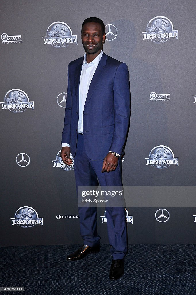 Omar Sy attends the 'Jurassic World' Photocall at UGC Normandie on May 29 2015 in Paris France