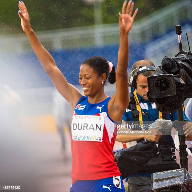 STADIUM TORONTO ONTARIO CANADA Omara Duran from Cuba wins semifinal 2 of the Women's 100m T12 setting World Record with 1165 The Athletics day of the...