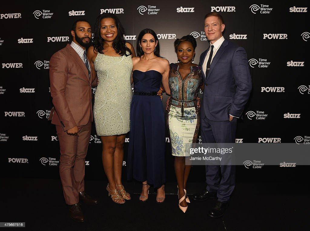 Omari Hardwick Courtney Kemp Agboh Lela Loren Naturi Naughton and Joseph Sikora attend the 'Power' season two premiere event with a special...