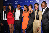 Omari Hardwick Jordin Sparks Mike Epps Debra Martin Chase Carmen Ejogo Tika Sumpter and Derek Luke attend The Cinema Society with Circa and Alice...