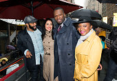 Omari Hardwick Lela Loren 50 Cent and Naturi Naughton of the cast of the TV series 'Power' arrive in Times Square to hand out tickets to the New York...