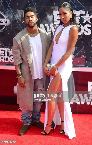 Omarion and Apryl Jones attend the 2015 BET Awards on June 28 2015 in Los Angeles California