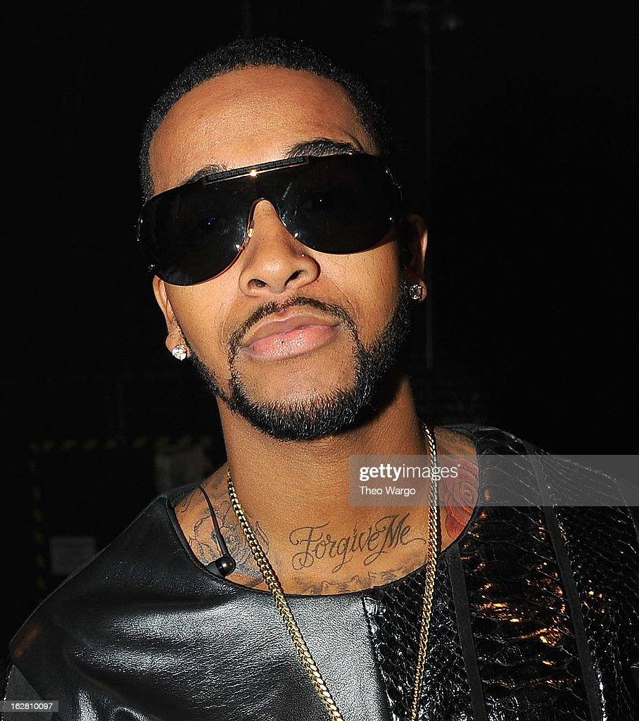 Omarion attends BET's Rip The Runway 2013:Backstage Hammerstein Ballroom on February 27, 2013 in New York City.