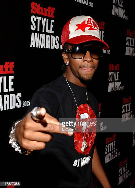 Omarion during 2005 Stuff Style Awards Red Carpet at Hollywood Roosevelt Hotel in Los Angeles California United States