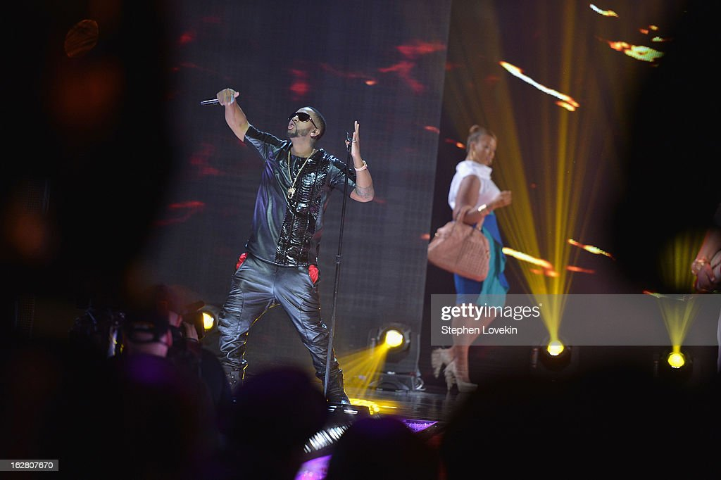 Omarion performs at BET's Rip The Runway 2013:Show at Hammerstein Ballroom on February 27, 2013 in New York City.