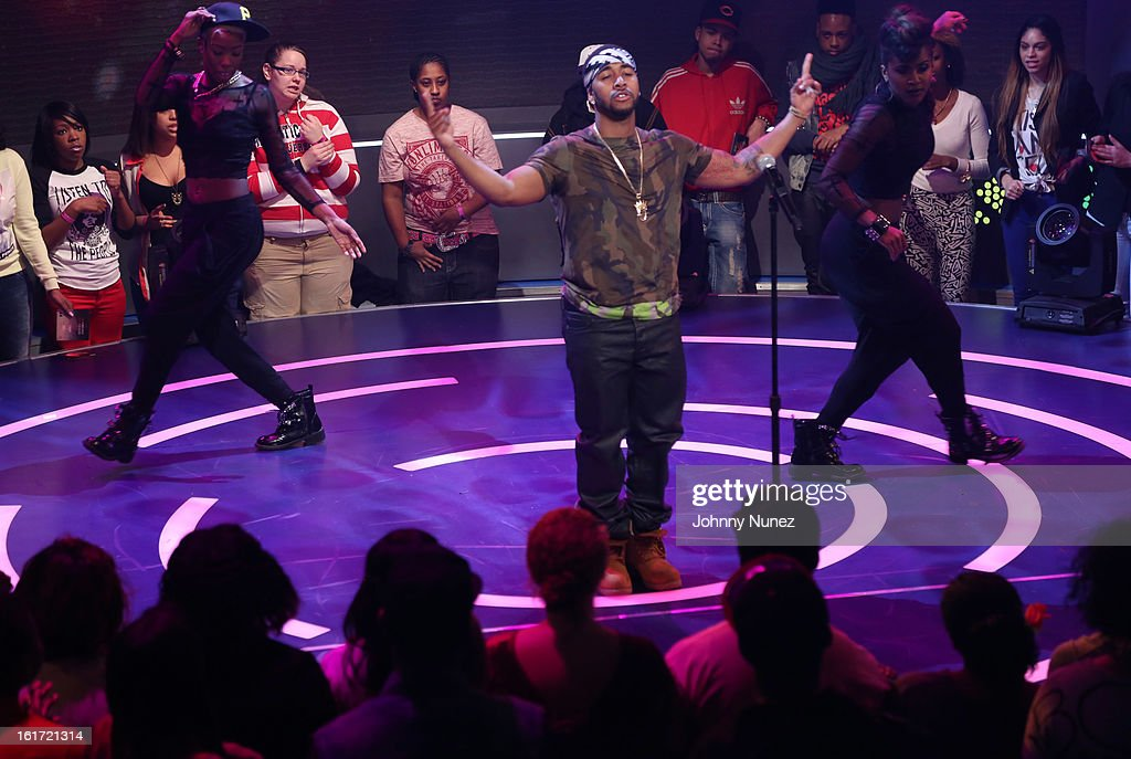 Omarion performs on BET's '106 & Park' at BET Studios on February 14, 2013 in New York City.