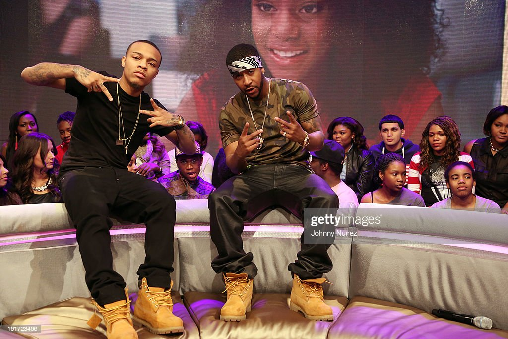 <a gi-track='captionPersonalityLinkClicked' href=/galleries/search?phrase=Omarion&family=editorial&specificpeople=203120 ng-click='$event.stopPropagation()'>Omarion</a> (r) visits BET's '106 & Park' with host <a gi-track='captionPersonalityLinkClicked' href=/galleries/search?phrase=Bow+Wow&family=editorial&specificpeople=211211 ng-click='$event.stopPropagation()'>Bow Wow</a> (L) at BET Studios on February 14, 2013 in New York City.