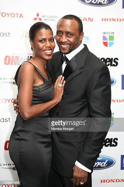 Omarosa and Tommy Hearns during 11th Urban Wheel Awards at Max Fisher Theater in Detroit Michigan United States