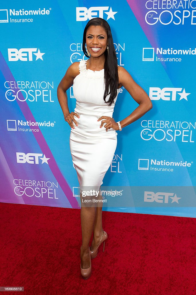 Omarosa arrives at the BET Network's 13th Annual 'Celebration of Gospel' at Orpheum Theatre on March 16, 2013 in Los Angeles, California.